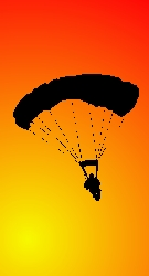 Skydive in Silhouette